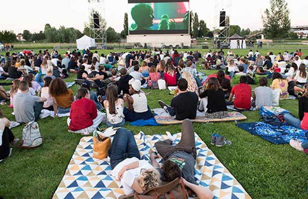 Open-air movie theater